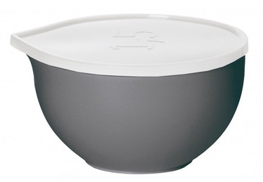 Plast Team Bowl With Lid D16.7cm 1l Grey