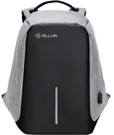Tellur Laptop Backpack With USB Port Grey