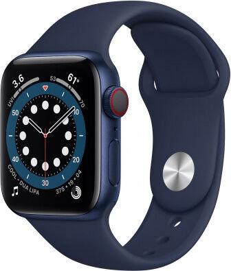 Apple Watch Series 6 GPS 40mm LTE Blue Aluminum Deep Navy Sport Band