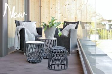 Sodo baldų komplektas Prosperplast Uniqubo Multifunctional IKUBS3-405U, pilkas, 2 vietų