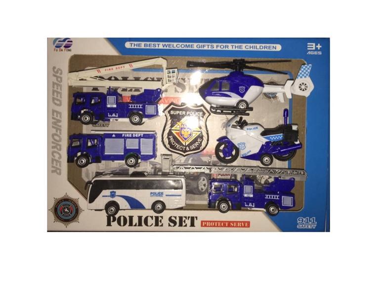 Rotaļlietu komplekts POLICE 868-11