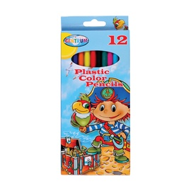 Centrum Pirate Plastic Color Pencils 12pcs