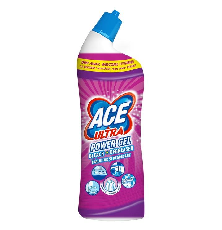 Gelinis vonios valiklis Ace Ultra Power Lavender Effect 750 ml