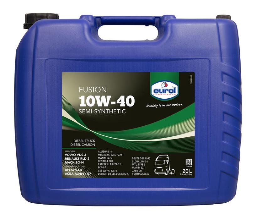 Mootoriõli Eurol Fusion 10W40 Semi-Synthetic Oil 20l