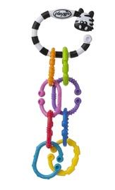 Игрушка для коляски Playgro Zebra 9 Links On The Go, многоцветный