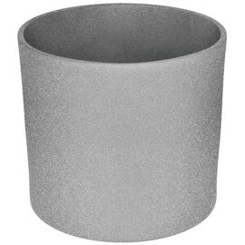 Горшок кер DOMOLETTI, WALEC STRUCTUR, д 23, цвет серый