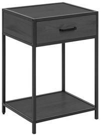 Naktinis staliukas Home4you Seaford AC87997, juodas, 42x35x63 cm