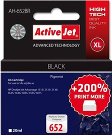 ActiveJet Cartridge AH-652BR For HP 20ml Black