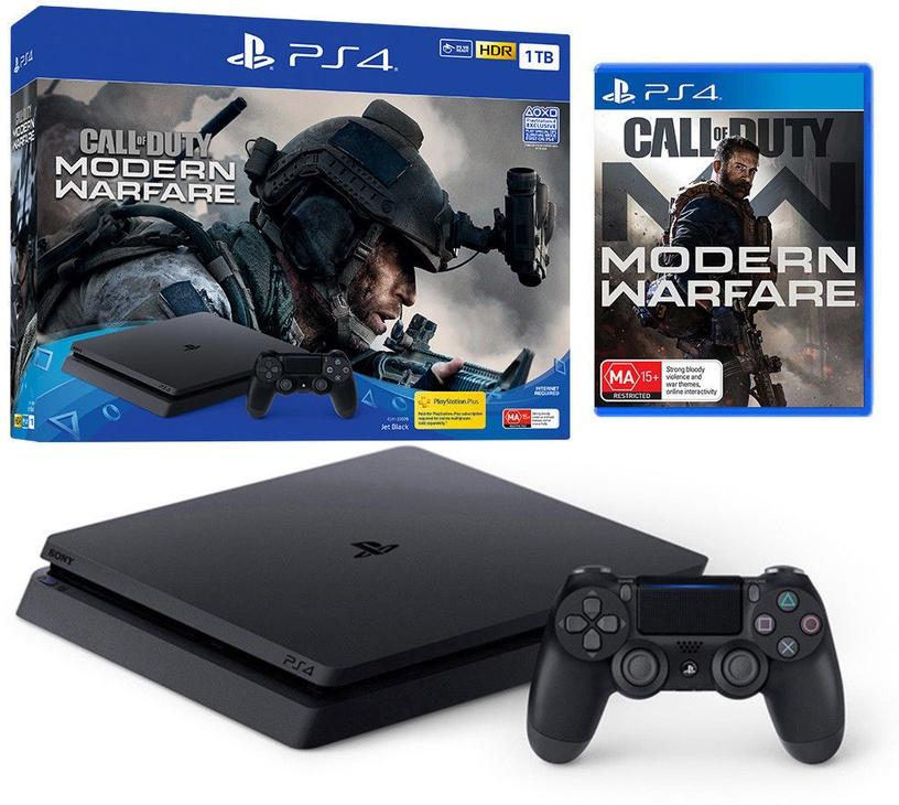 Sony Playstation 4 (PS4) Slim 500GB Black + Call of Duty: Modern Warfare