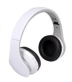 Ausinės Rebeltec Bluetooth Headphones Pulsar White