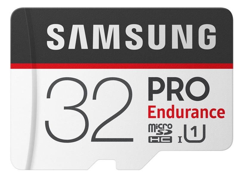 Samsung 32GB PRO Endurance microSD Card + Adapter