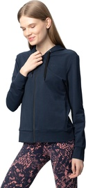 Tamprus moteriškas medvilninis džemperis Audimas, tamsiai mėlynas, L