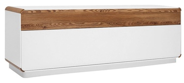 Black Red White Elis TV Stand White&Oak