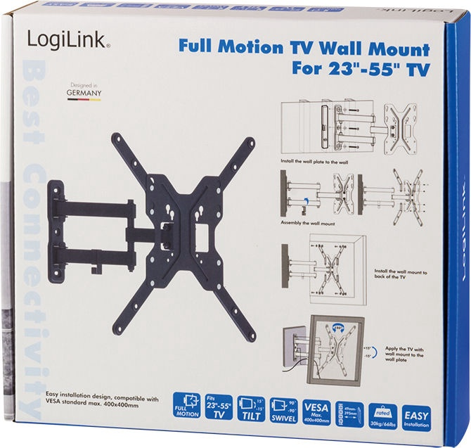 "LogiLink BP0016 TV Wall Mount 23–55"""