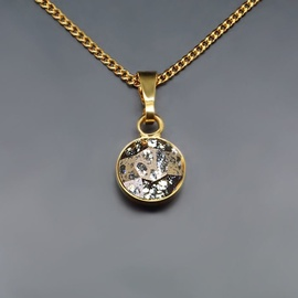 Diamond Sky Pendant Classic Rose Patina With Swarovski Crystals
