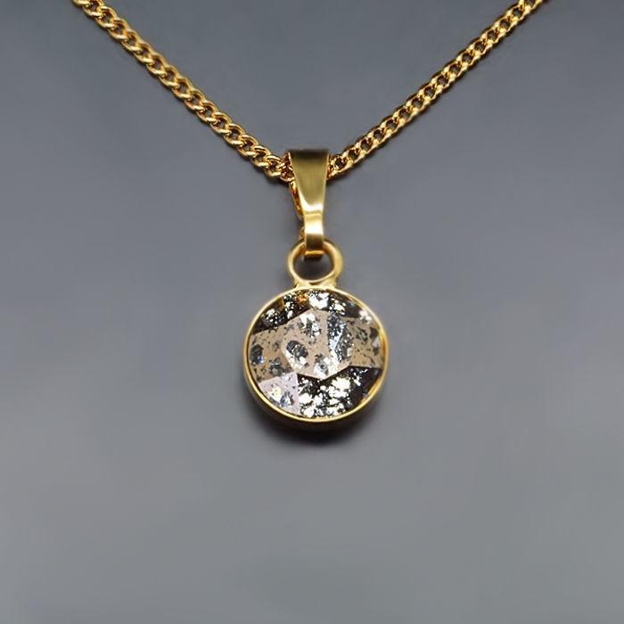 Diamond Sky Pendant Classic Rose Patina With Swarovski Crystals