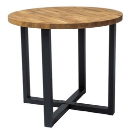 Signal Meble Rolf Oak Table 90x90cm Oak/Black