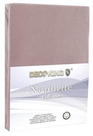 Palags DecoKing Nephrite, brūna, 160x200 cm, ar gumiju