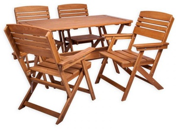 Folkland Timber Folding Garden Set Heini 4 Brown