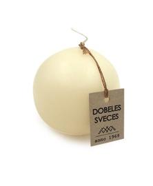 Svece bumba bēša d-8cm