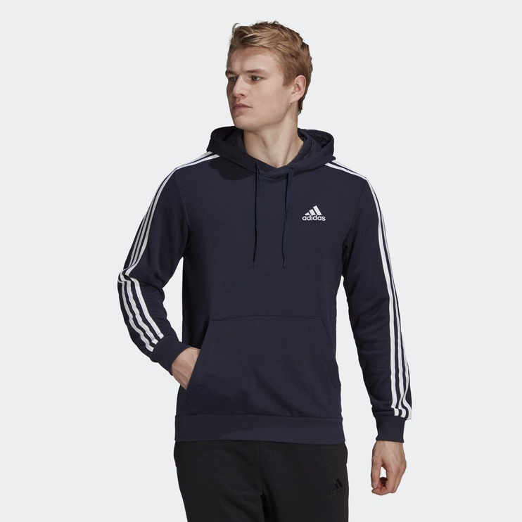 Джемпер Adidas Essentials 3 Stripes Hoodie GK9081 Blue L