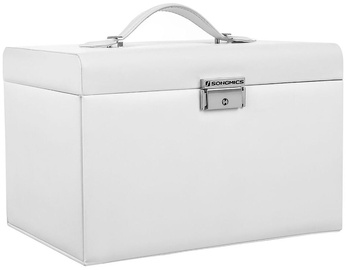 Songmics Jewelry Box White 26x17x18cm