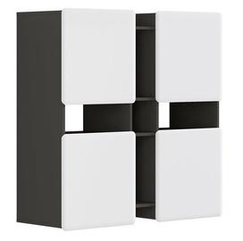 Black Red White Possi Light SFW4D 115x115x42cm Grey/White