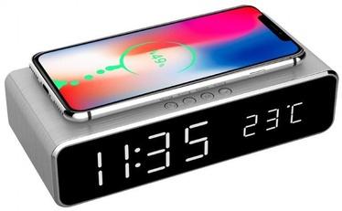 Gembird Digital Alarm Clock DAC-WPC-01 Silver