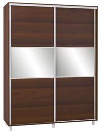 Bodzio SZP180W Sliding Wardrobe w/ Mirror 180x240cm Walnut
