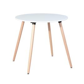 Valgomojo stalas, baltas, Ø80 cm