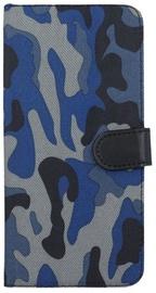 Forever Army Book Case For LG K10 2017 Dark Blue