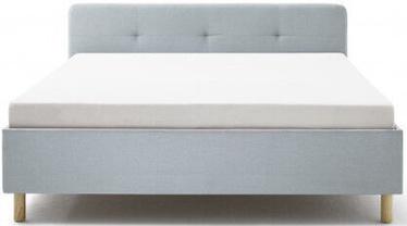 Кровать Meise Möbel Amelie Wooden Oak Base Ice Blue, 200x140 см