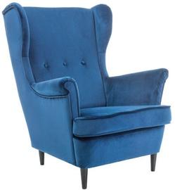 Fotelis Signal Meble Lord Velvet Blue, 72x85x101 cm