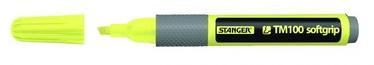 Stanger TM100 Highlighter 1-4mm 10pcs Yellow 180009505