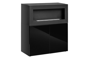 ASM Camino Uni Chest Of Drawers w/ Fireplace Black