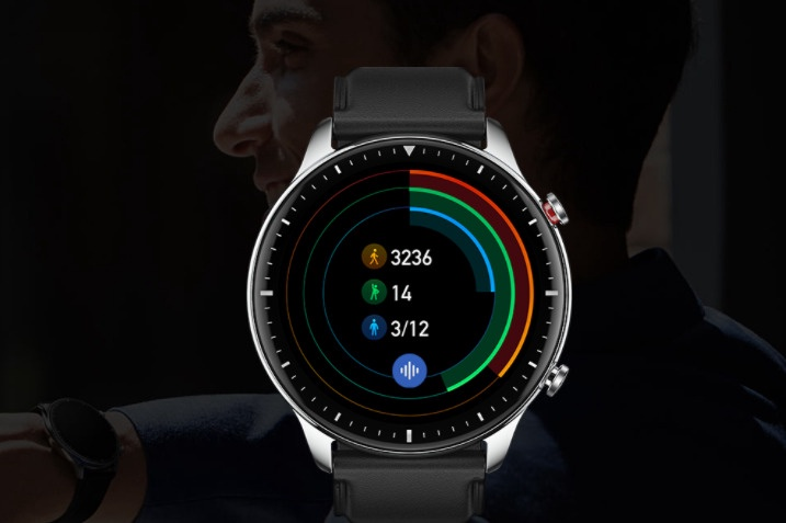 Išmanusis laikrodis Xiaomi Amazfit GTR 2 Stainless Steel, juoda/pilka