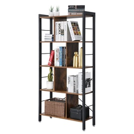 Songmics Bookcase 74x30x154.5cm Brown/Black