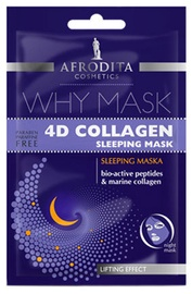 Afrodita Why Face Mask 4D Collagen Sleeping 6ml + 6ml