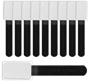 Label The Cable Mini Velcro Tie Set Of 10 Black