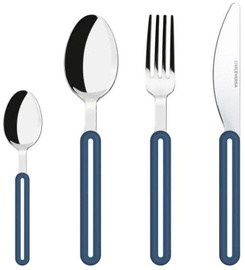 ViceVersa Offset Cutlery Set 4 Blue