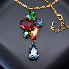 Diamond Sky Pendant Amber III With Swarovski Crystals
