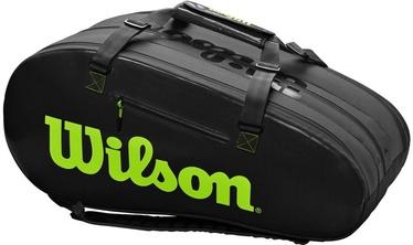 Спортивная сумка Wilson Super Tour, черный/зеленый