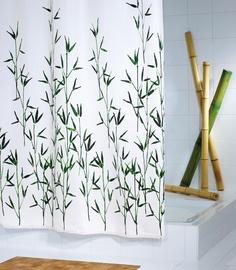 Штора для ванной Ridder Bambus Green 47305, белый/зеленый, 2000 мм x 1800 мм