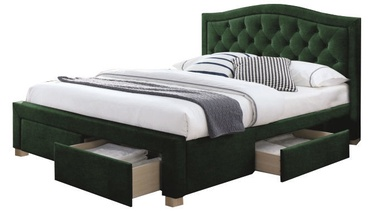 Signal Meble Electra Velvet Bed 160x200cm Green