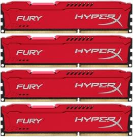 Kingston HyperX Fury Red 32GB 2933MHz CL17 DDR4 KIT OF 4 HX429C17FR2K4/32