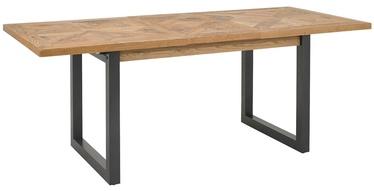 Pusdienu galds Home4you Indus, ozola, 1580x900x765mm