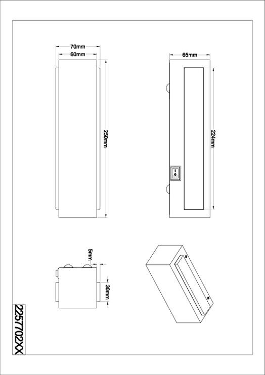 Sieninis šviestuvas Trio Darco 225770205, 2x3W SMD LED