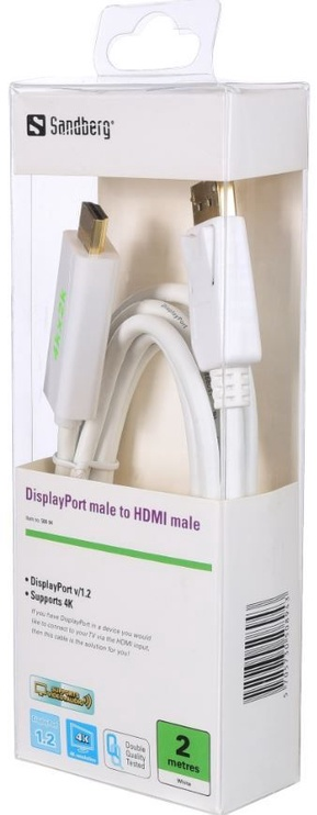Sandberg Cable Displayport to HDMI 2m