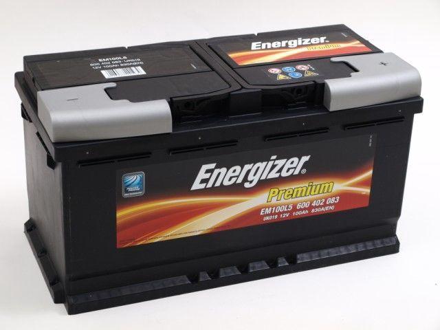 Аккумулятор Energizer Premium EM100L5, 12 В, 100 Ач, 830 а