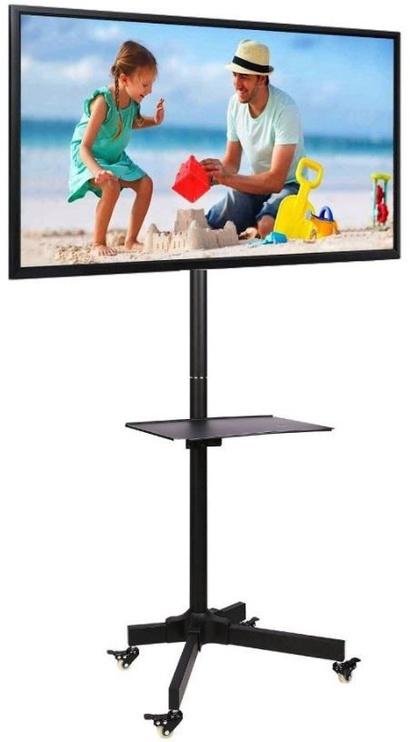 Televizoriaus laikiklis Techly Trolley Floor Stand With Shelf 23 -55'' Black